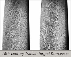 Iranian forged Damascus steel