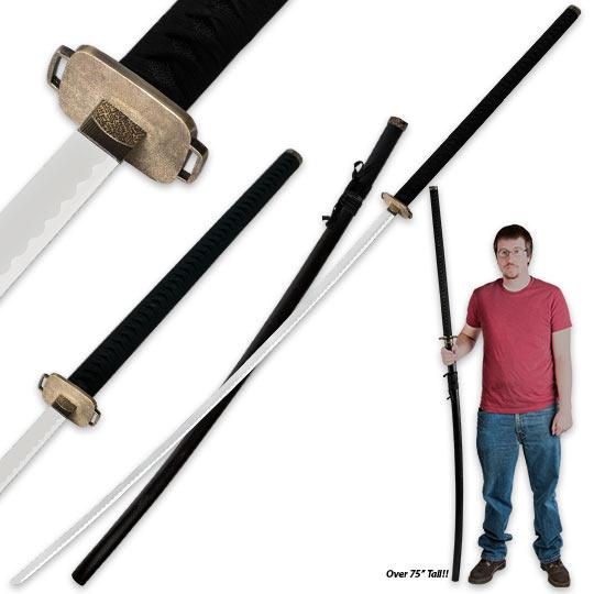 75 in odachi samuari warrior sword w matching scabbard true swords
