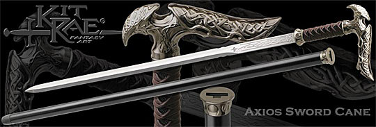 Kit Rae Axios Sword Cane Detail