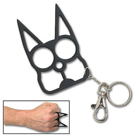 Keychain Defense - Black Cat
