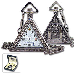 Freemason 1920 Triangular Masonic Pocket Watch