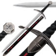 One Hand Knight's Templar Sword - 39 In. Overall