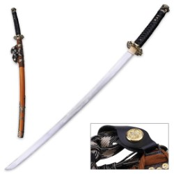 Ten Ryu Golden Dahlia Katana with Saya - 1045 High Carbon Steel