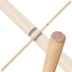 Natural Hardwood Bo – 6 Ft. Fighting Staff