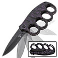 Modern Day Trench Knife w/ Assisted Opening Mechanism – Purple Skull