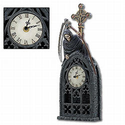 Grim Reaper Mantle Clock