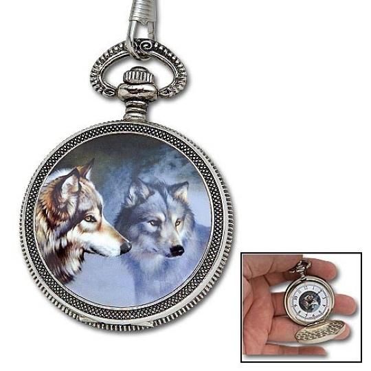wildlife wolf pocket w chain true swords