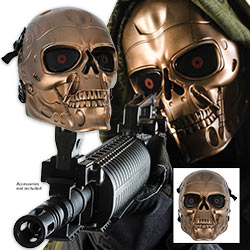 Bronze Soldier Skeletal ABS Airsoft Face Mask – Adjustable