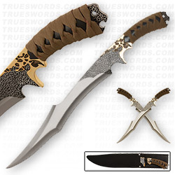 Elfin Warrior Scimitar Swords & Sheath