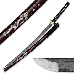 Shinwa Samurai Katana Sword – Damascus / Genuine Pearl