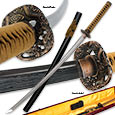 Shinwa Full Tang Double Edge Zatoichi Sword w/ Scabbard