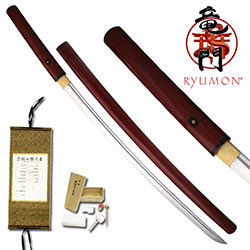 Ryumon –1060 Carbon Redwood Shirasaya- Real Buffalo Horn Koiguchi
