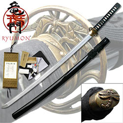 "Ryumon – 41.5"" 1095 Carbon Steel Samurai Katana Sword – Hand Forged Steel"