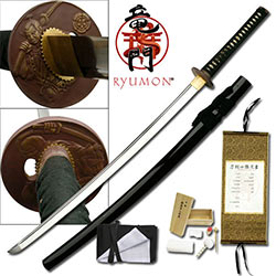 Ryumon– 1060 Carbon Steel Blade, 7MM Thickness- Samurai Katana