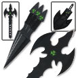 Undead Apocalypse Triple Throwing Knife Set w/ Throwing Axe Combo
