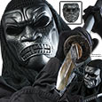 Samurai Skeletal Airsoft Mask – Black/Silver