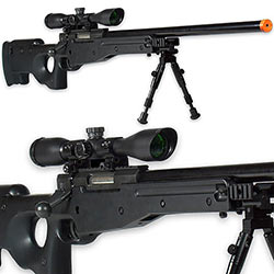Sniper Rifle AWS 6mm Airsoft Gun w/ Accessories
