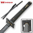 Shinwa Black Damascus Katana - Handmade Sword - 40""
