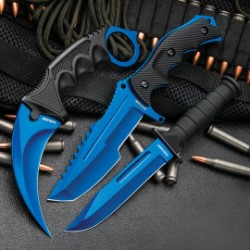 Atomic Blue Triple Knives Set