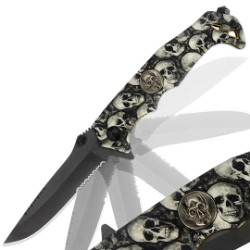 Army of Skulls Pocket Knife – Assisted Opening Blade