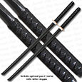 2 Black Bokken Swords - Wooden Training Daitos