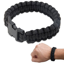 Paracord - Survival Bracelet - Black