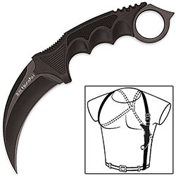 Honshu Black Karambit w/ Shoulder Rig
