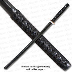 Wooden Daito Bokken Practice Katana Black w/ Handle Wrap