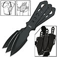 Throwing Knife - Black Ops w/ Shoulder Rig - Set of 3