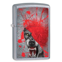 """Bloody Wolf Breaking Through"" Zippo Lighter - Made in USA"