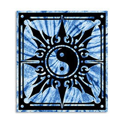 Tapestry - Blue Energy Burst Yin Yang