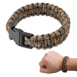 Paracord - Survival Bracelet w/ 9+ ft. of Military Cord - Camo
