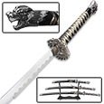 Collector Edition Three Tiered Dragon Samurai Sword Set