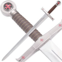 Knights Templar Sword With Display Plaque