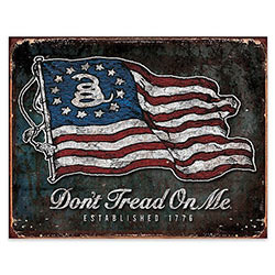 Tin Sign - Don't Tread On Me Steel Sign