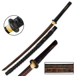 Dragon Stalker Samurai Katana Sword – Rich Black Damascus