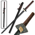 Black Damascus Katana Sword- Dark Dragon