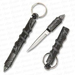Keychain Defense - Dragon & Skull Highly Detailed Kubaton