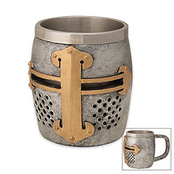 Novelty Drinking Mug - Templar Knight Helmet