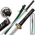 Dueling Dragon Emerald Katana – Hand-Forged Carbon Steel