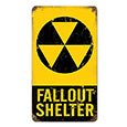 Tin Sign - Fallout Shelter Steel Sign