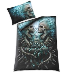 Flaming Spine Duvet Set - Reversible