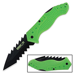Folding Knife of the Undead w/ Spiked Blade
