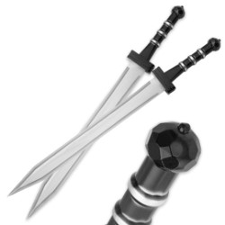 "Gladiator Combat ""Deadly Twin"" Sword Set with Nylon Double Sheath"