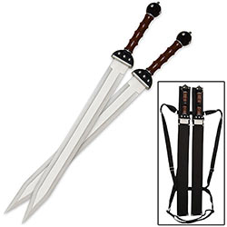 Gladius Twin Sword Set w/ Back Sheath