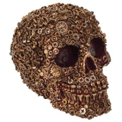 Sprockedermis - Gear / Nut / Bolt Covered Skull Sculpture
