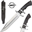 Gil Hibben - Black Bear Fighting Knife w/ Leather Sheath