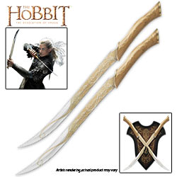 The Hobbit – Officially Licensed Legolas Greenleaf Fighting Knives