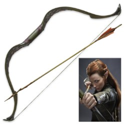 "Tauriel Elven Bow and Arrow from ""The Hobbit"" Motion Picture Trilogy"