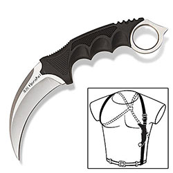 Honshu Self-Defense Karambit Claw w/ Shoulder Rig